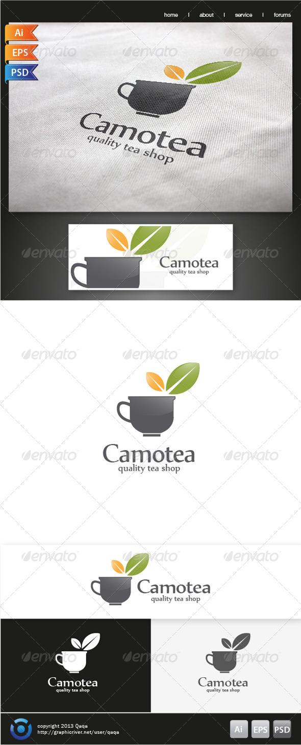 Tea Cup Logo - Food Logo Templates