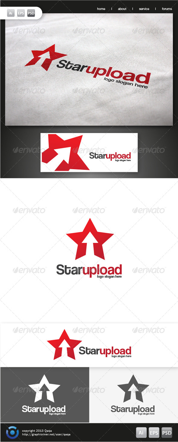 Star Up Logo - Symbols Logo Templates