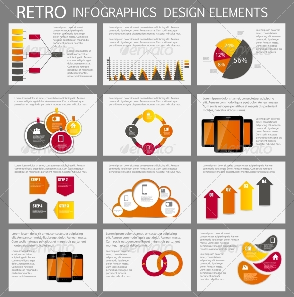 Infographic Business Template Vector Illustration - Infographics