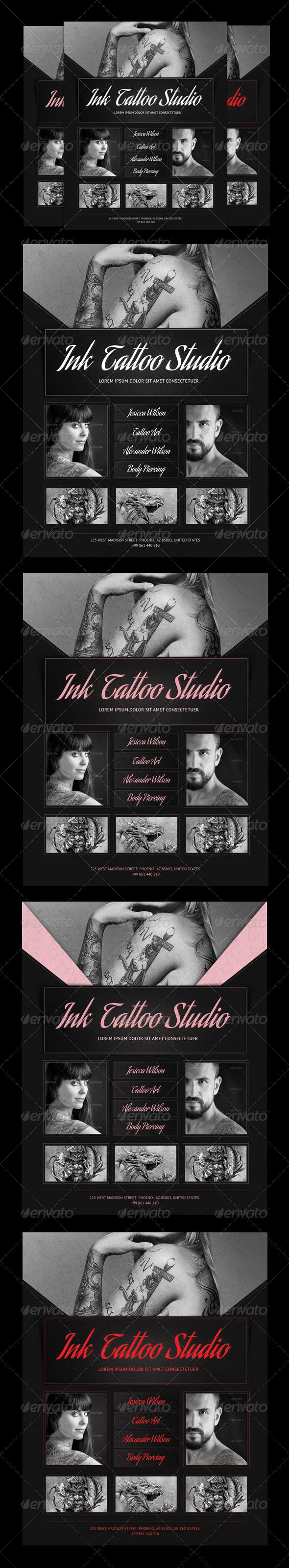 Ink Tattoo Studio Flyer - Flyers Print Templates