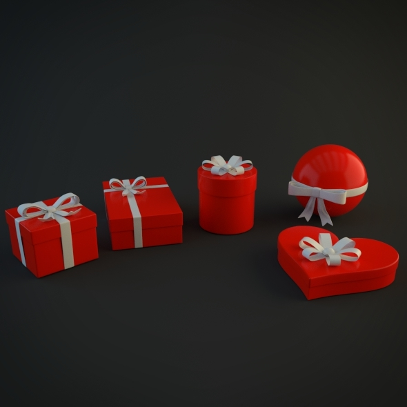 Christmas Gift Boxes - 3DOcean Item for Sale