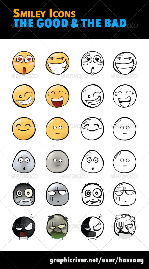 Smiley Icons The Good and The Bad - Miscellaneous Characters