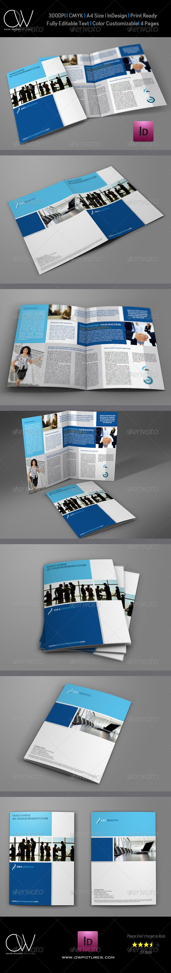 Company Brochure Bi-Fold Template Vol.2 - Corporate Brochures