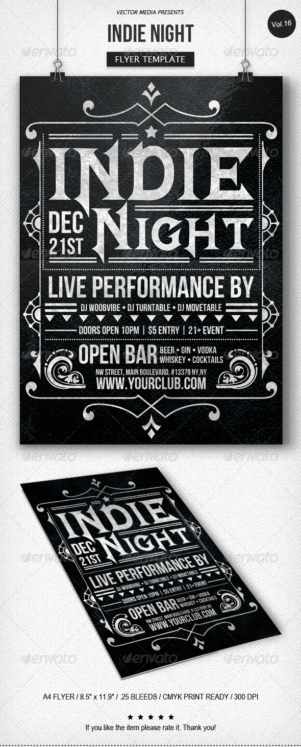 Indie Night - Flyer [Vol.16] - Clubs & Parties Events