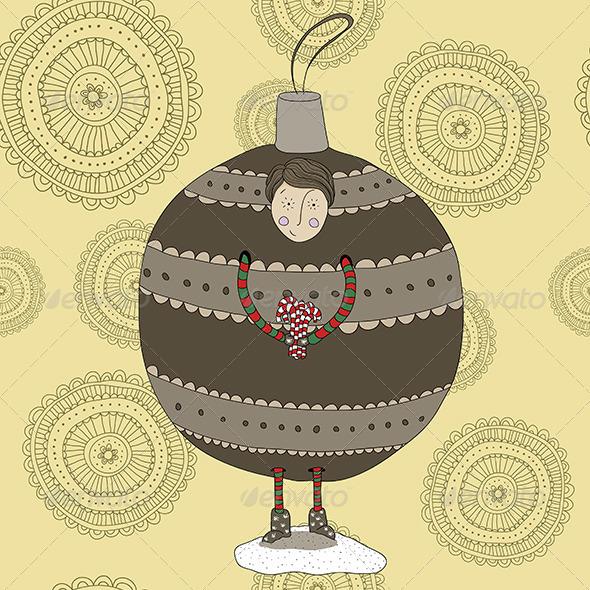 Christmas Bauble Boy - Christmas Seasons/Holidays
