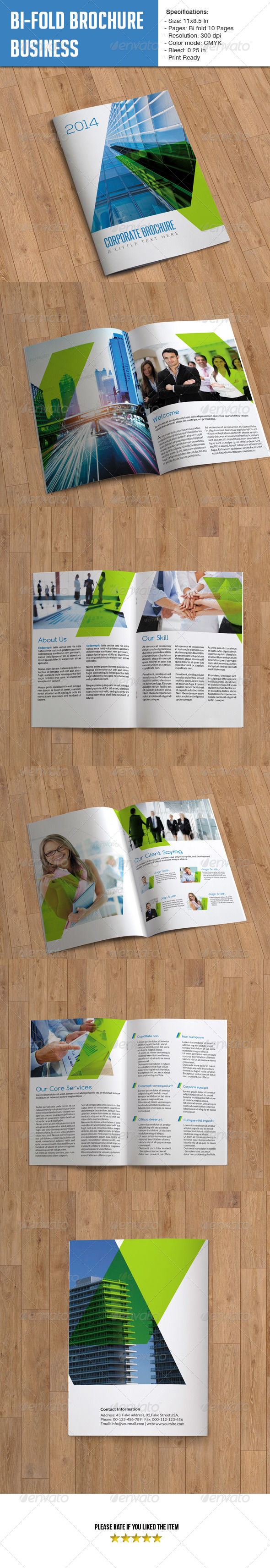 Bifold Brochure for Business- 10 Pages - Corporate Brochures