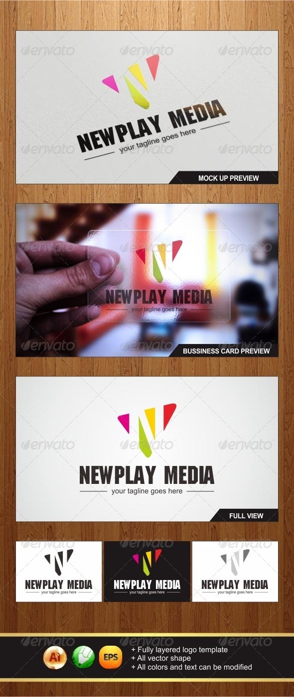 Newplay Media Logo - Letters Logo Templates