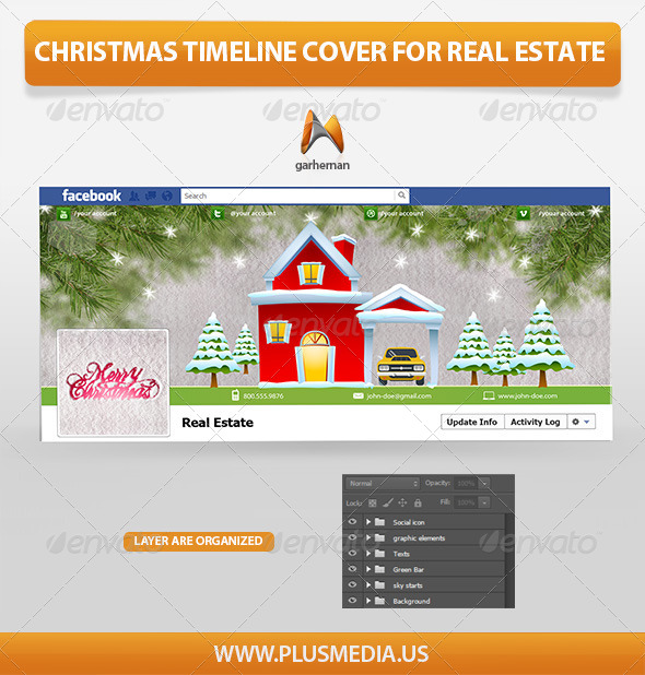 Christmas Timeline Cover for Real Estate  - Facebook Timeline Covers Social Media