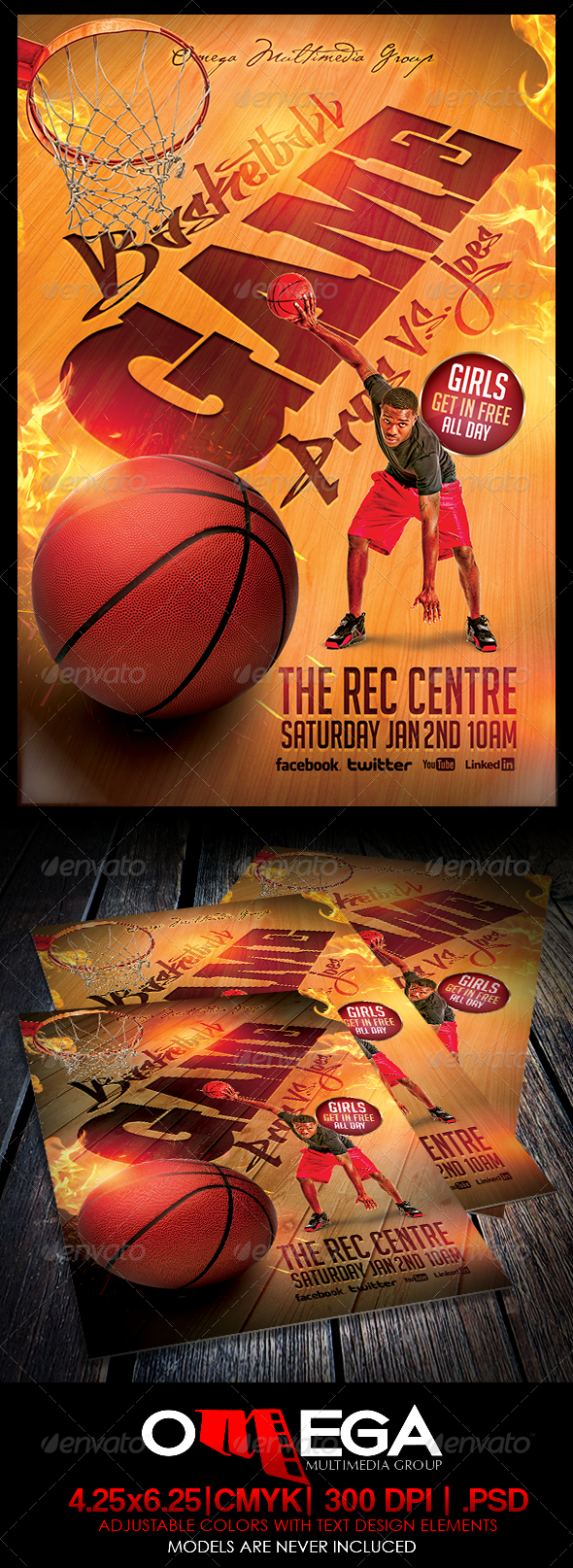 Basketball Pros Vs Joes - Events Flyers