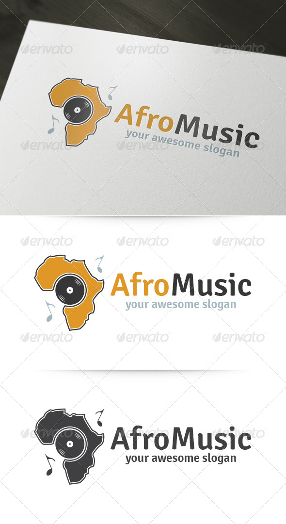Afro Music Logo - Objects Logo Templates