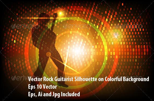 Rock Guitarist - Conceptual Vectors