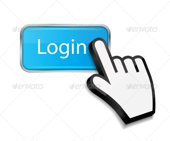 Mouse Hand Cursor on Login Button - Web Technology