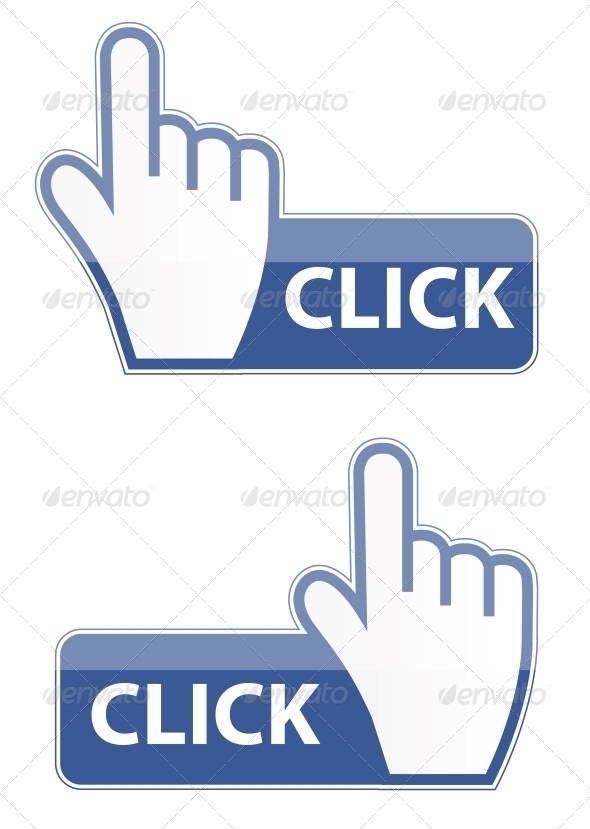 Mouse Hand Cursor Click Button - Web Technology