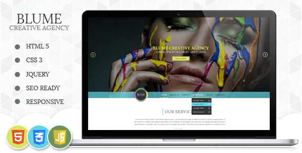 Blume Responsive HTML Template