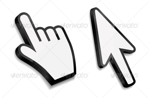 Mouse Hand and Arrow Cursors - Computers Technology
