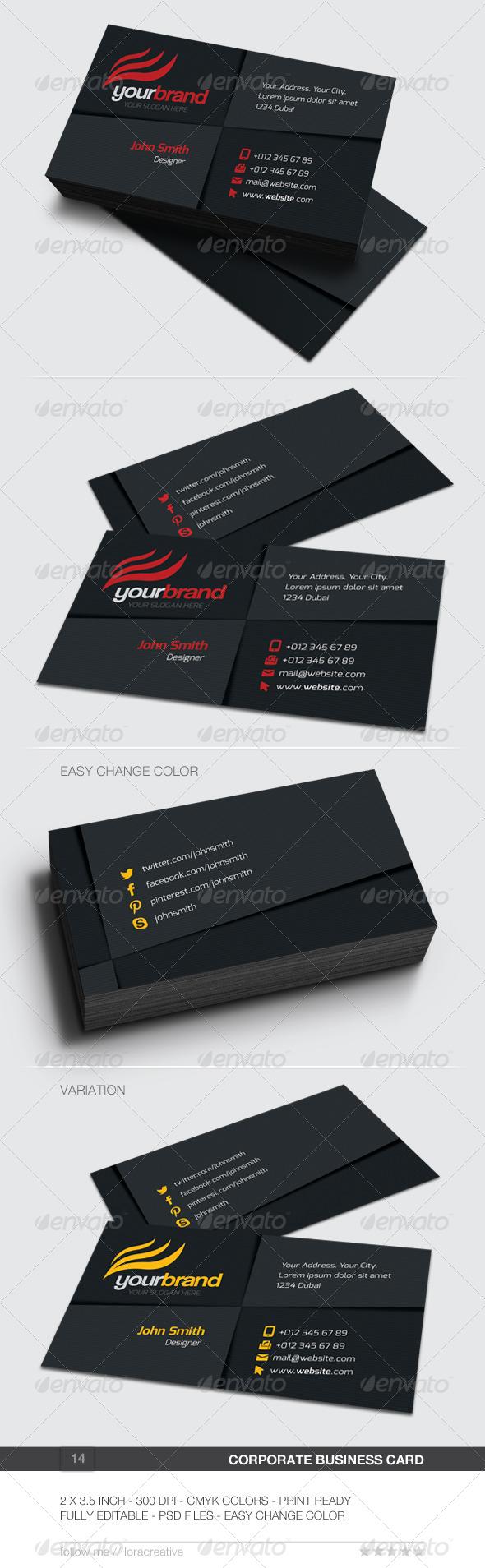 Corporate Business Card - 14 - Corporate Business Cards