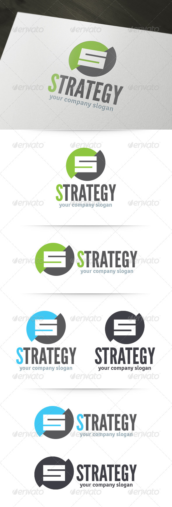 Strategy - Letter S Logo - Letters Logo Templates