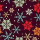 Seamless Vintage Snowflake Background - GraphicRiver Item for Sale