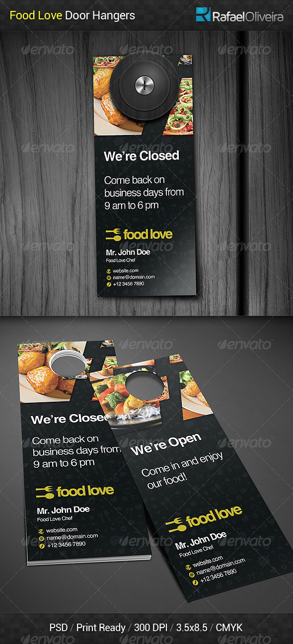 Food Love Door Hanger By Rafaeloliveira2 | Graphicriver