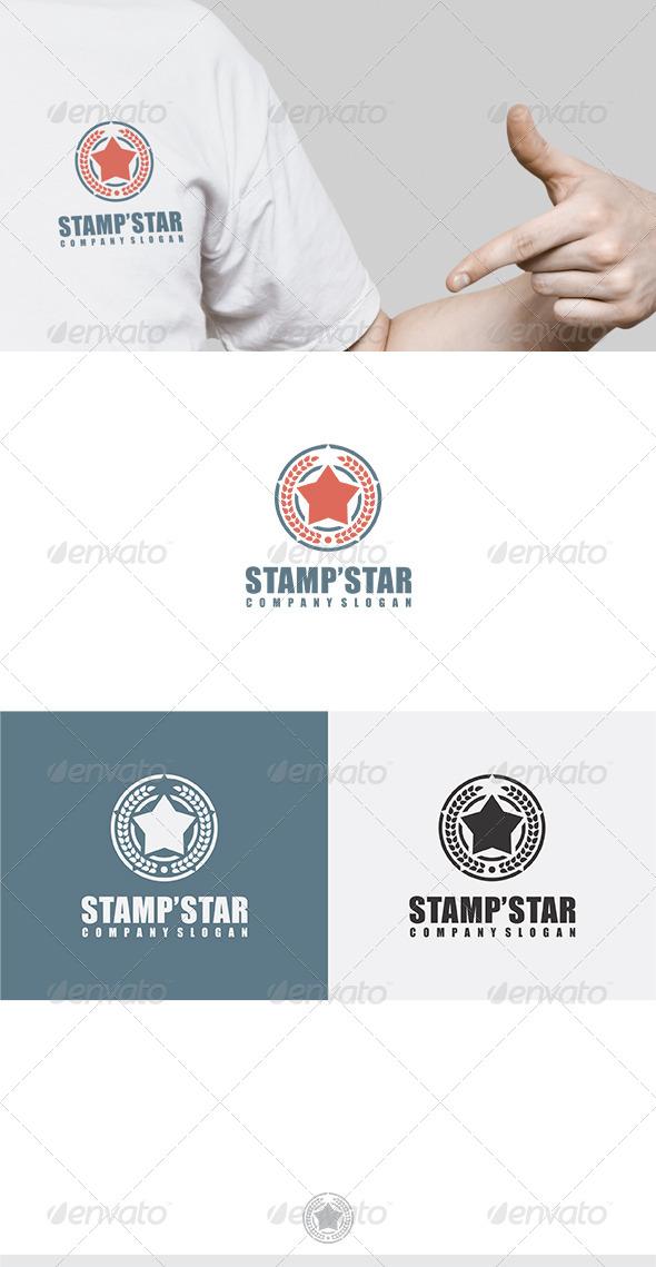 Stamp Star Logo - Symbols Logo Templates