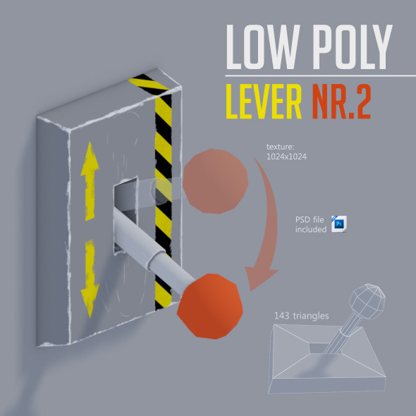 Low Poly LEVER NR.2 - 3DOcean Item for Sale