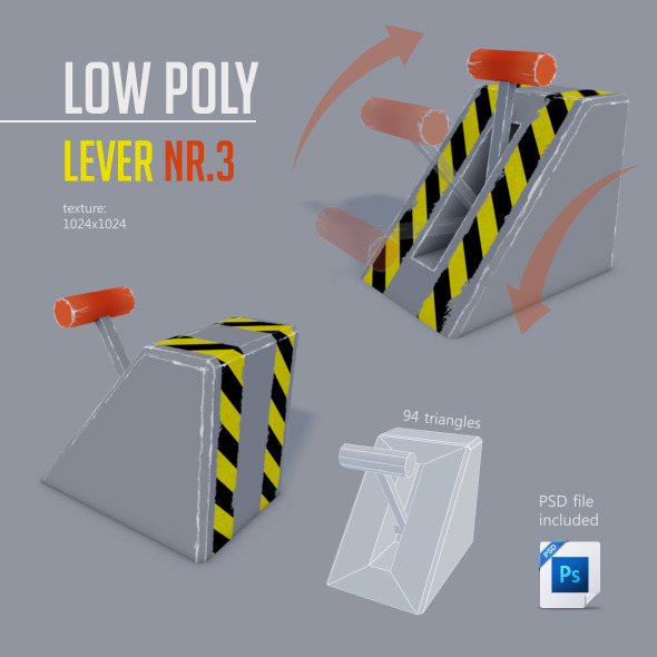 Low Poly LEVER NR.3 - 3DOcean Item for Sale