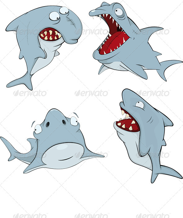 Sharks Cartoon  - Animals Characters