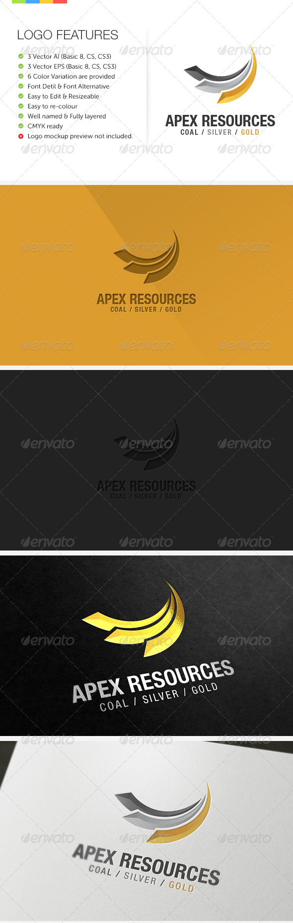 Apex Mining Exploration - Abstract Logo Templates