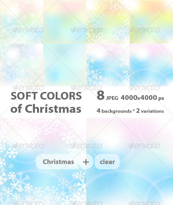 Christmas Soft Colors - Abstract Backgrounds