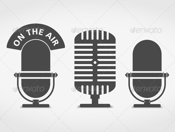 Microphone Icons - Objects Vectors