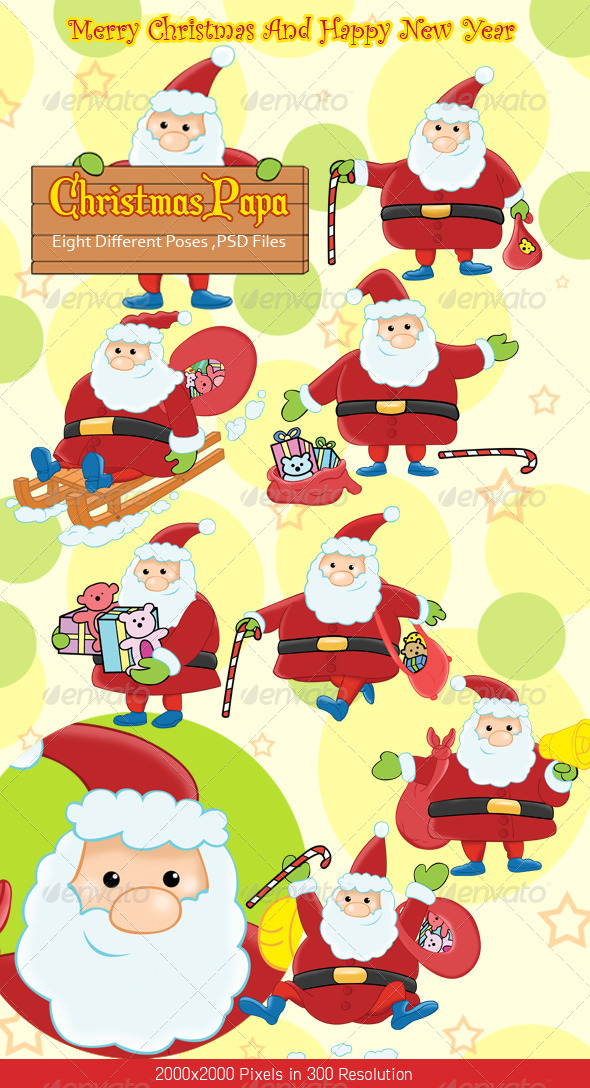 Christmas Santa Claus  - Characters Illustrations