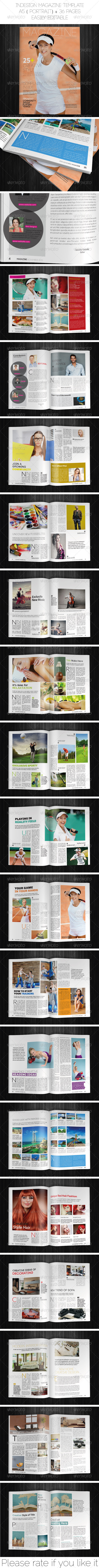 A5 Portrait Magazine Template - Magazines Print Templates