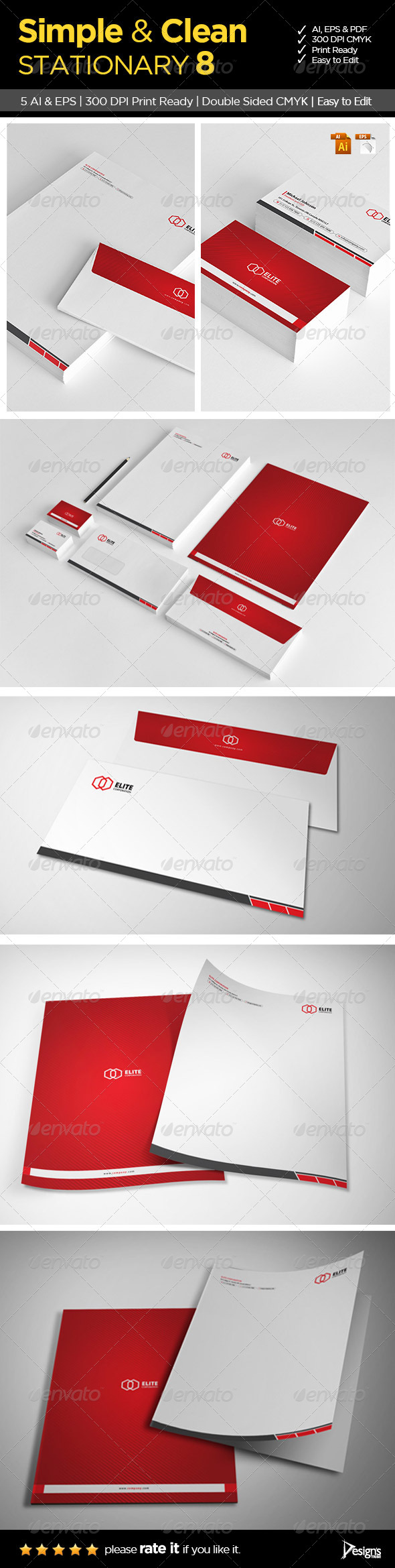 Simple and Clean Stationary 8 - Stationery Print Templates