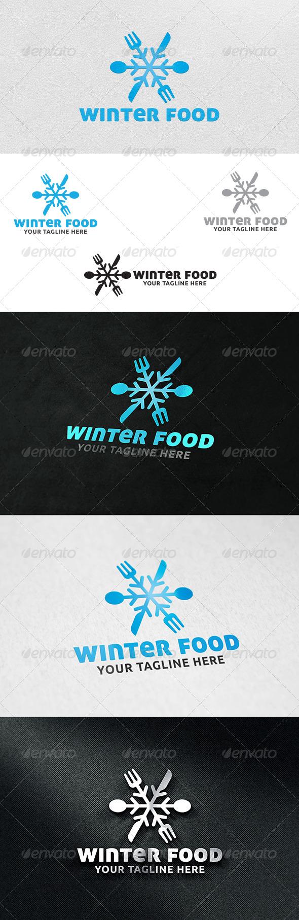 Winter Food V2 - Logo Template - Food Logo Templates