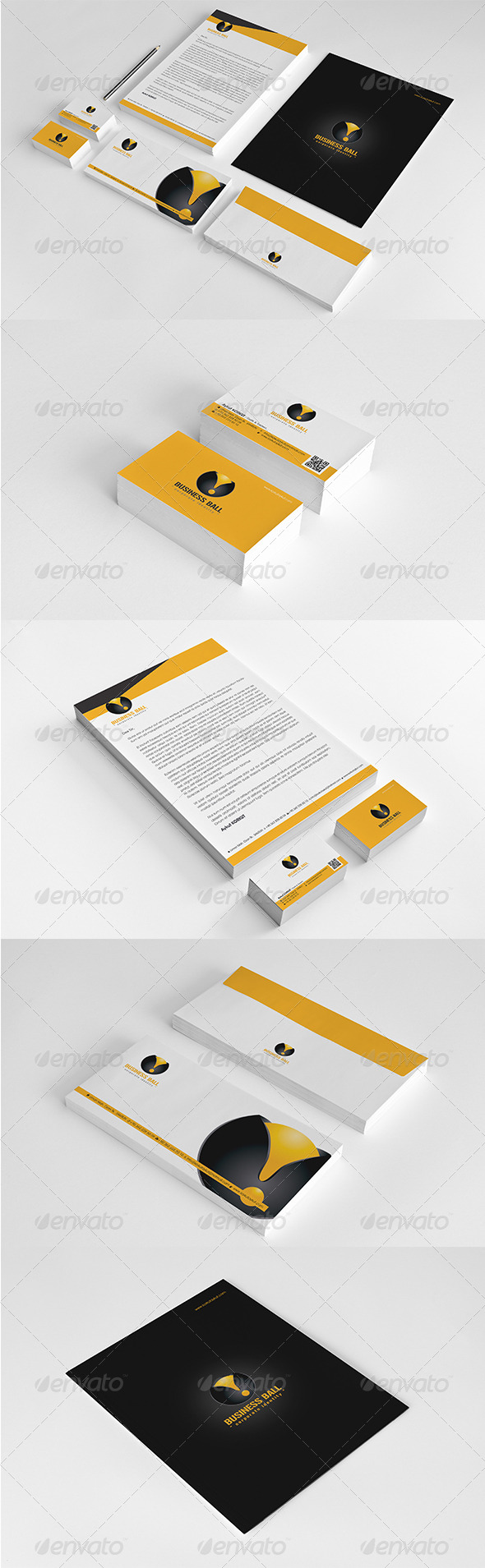 Business Ball Corporate Identity Package  - Stationery Print Templates