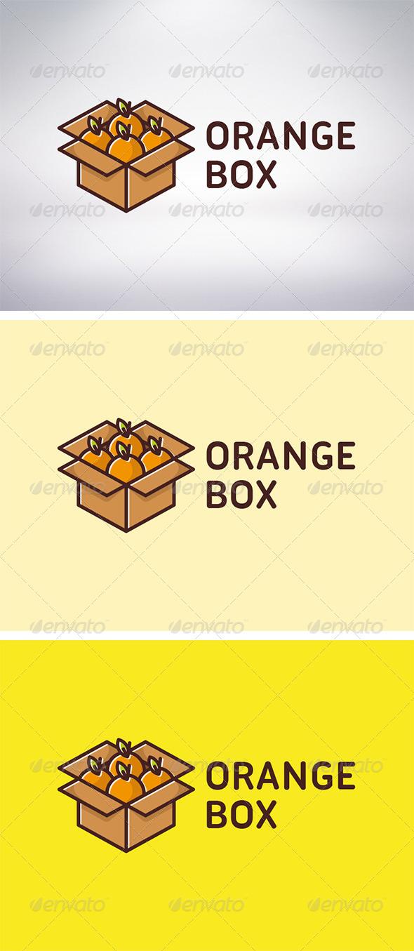 Orange Box Logo - Food Logo Templates