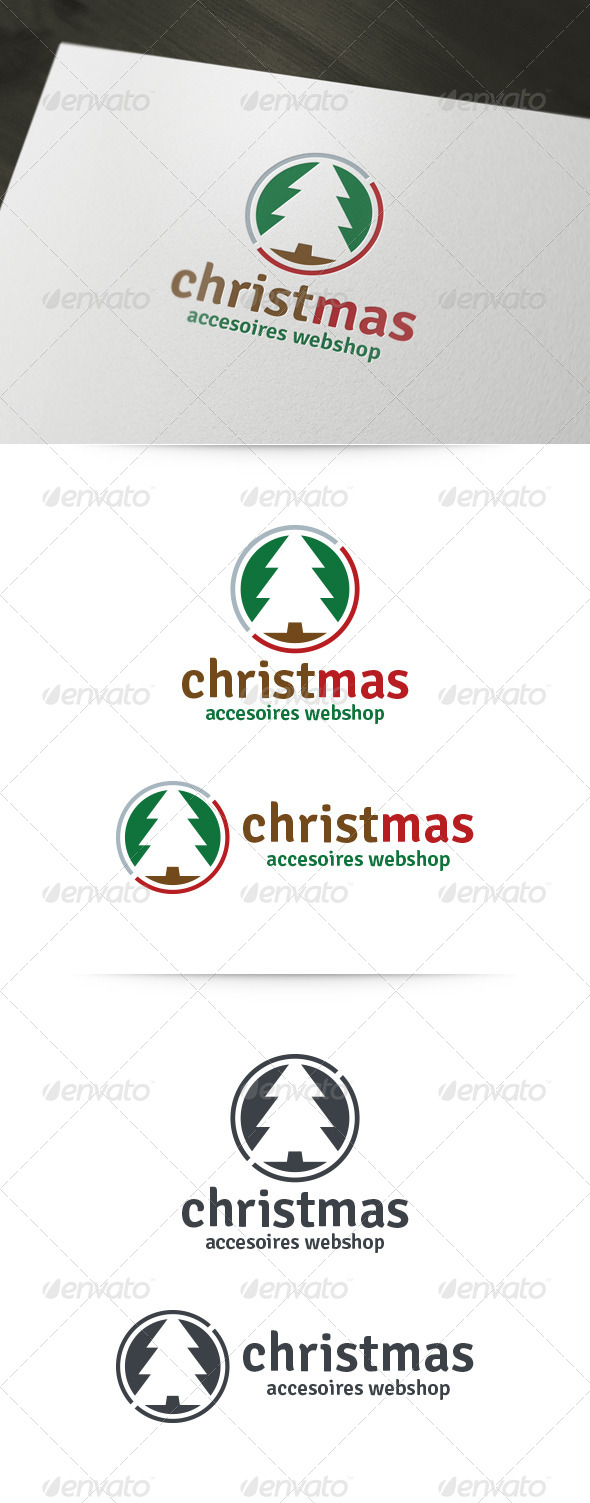 Christmas Shop Logo - Abstract Logo Templates