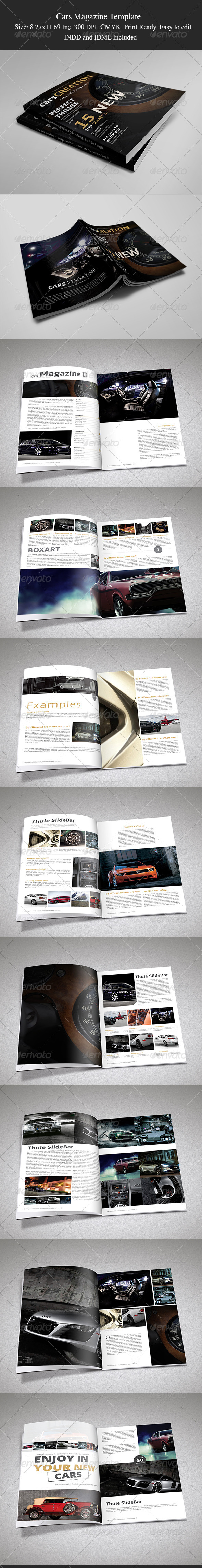 Cars Magazine Template II - Magazines Print Templates
