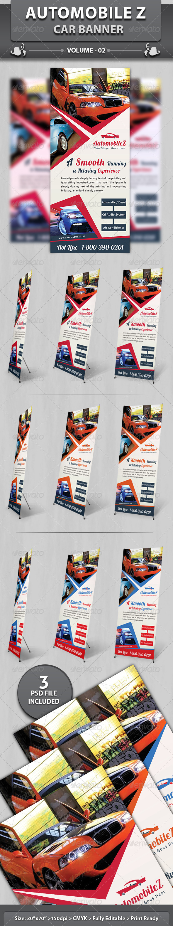 Automobile Business Banner | Volume 1 - Signage Print Templates