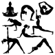 Vector Silhouettes of Yoga Positions - GraphicRiver Item for Sale