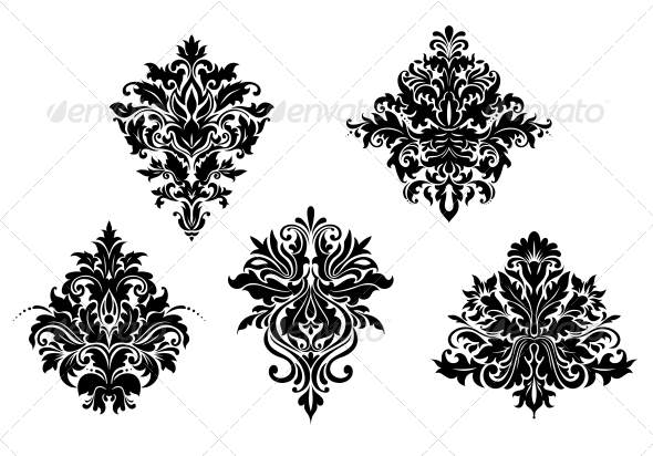 Victorian Design Elements floral design elementsseamartini | graphicriver