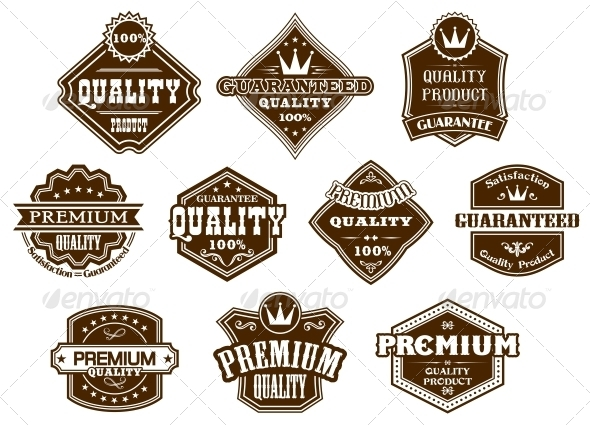 Labels and Banners in Western Style - Web Elements Vectors