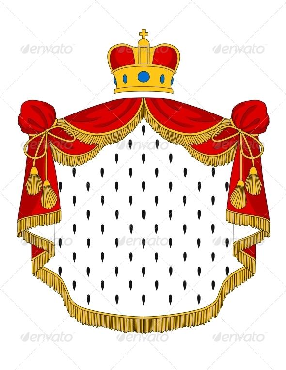 Red Royal Mantle - Decorative Symbols Decorative