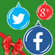 Christmas Social Media Icon Set - GraphicRiver Item for Sale