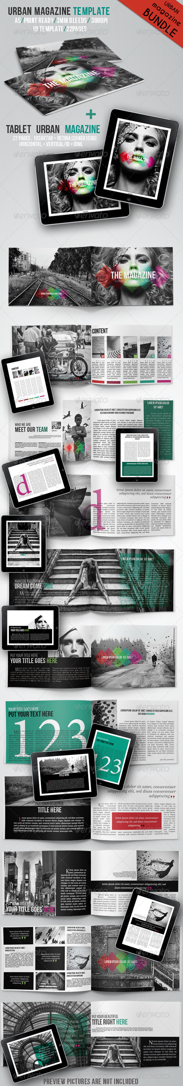 Urban Magazine Bundle - Magazines Print Templates