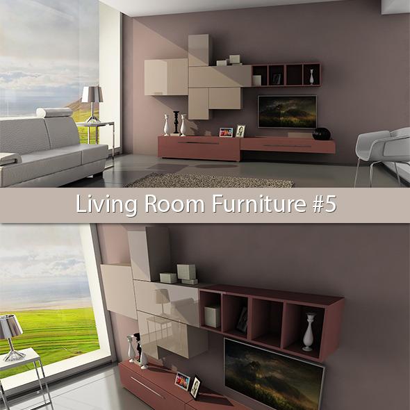 Living Room Furniture #5 - 3DOcean Item for Sale
