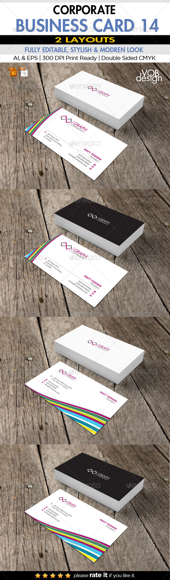 Corporate Business Card 14 - Business Cards Print Templates