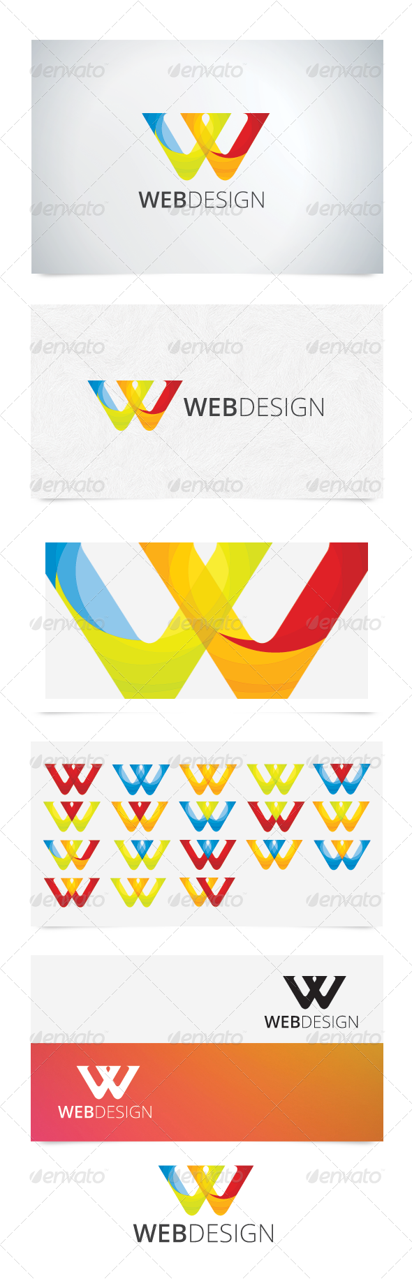 W Character Logo - Abstract Logo Templates