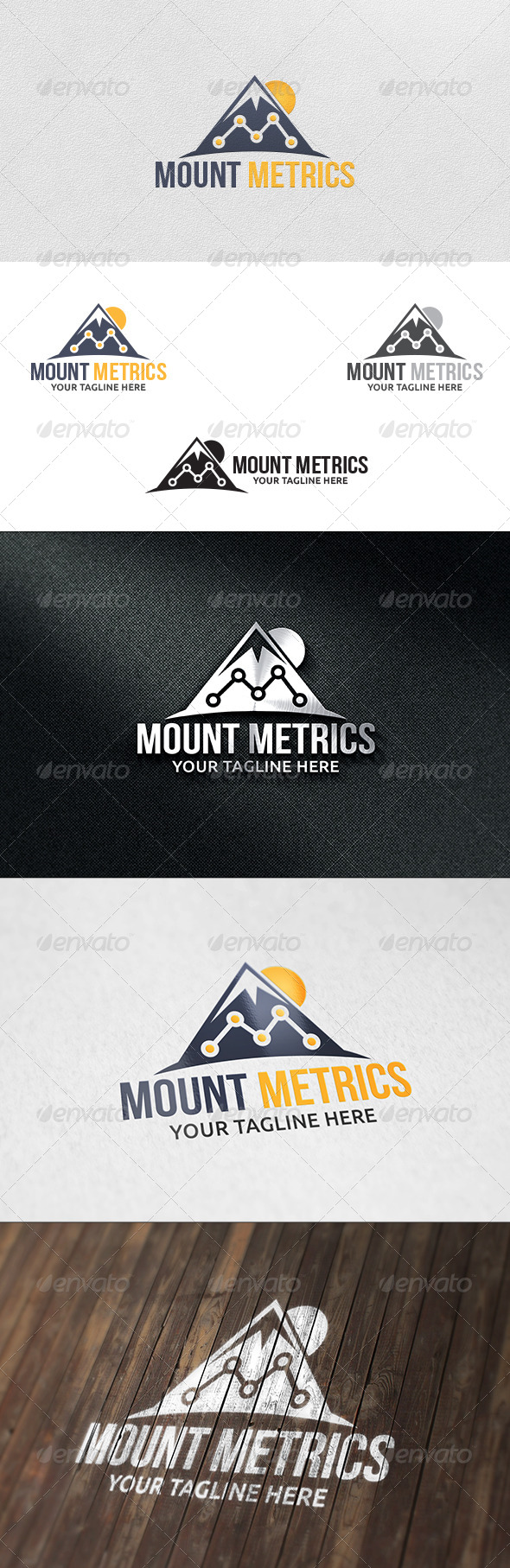 Mountain Metrics - Logo Template - Nature Logo Templates