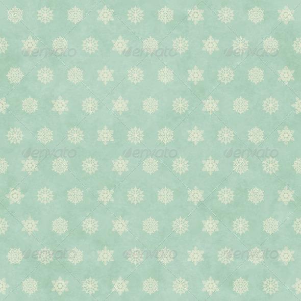 Christmas Winter Retro Seamless Pattern Background - Patterns Decorative
